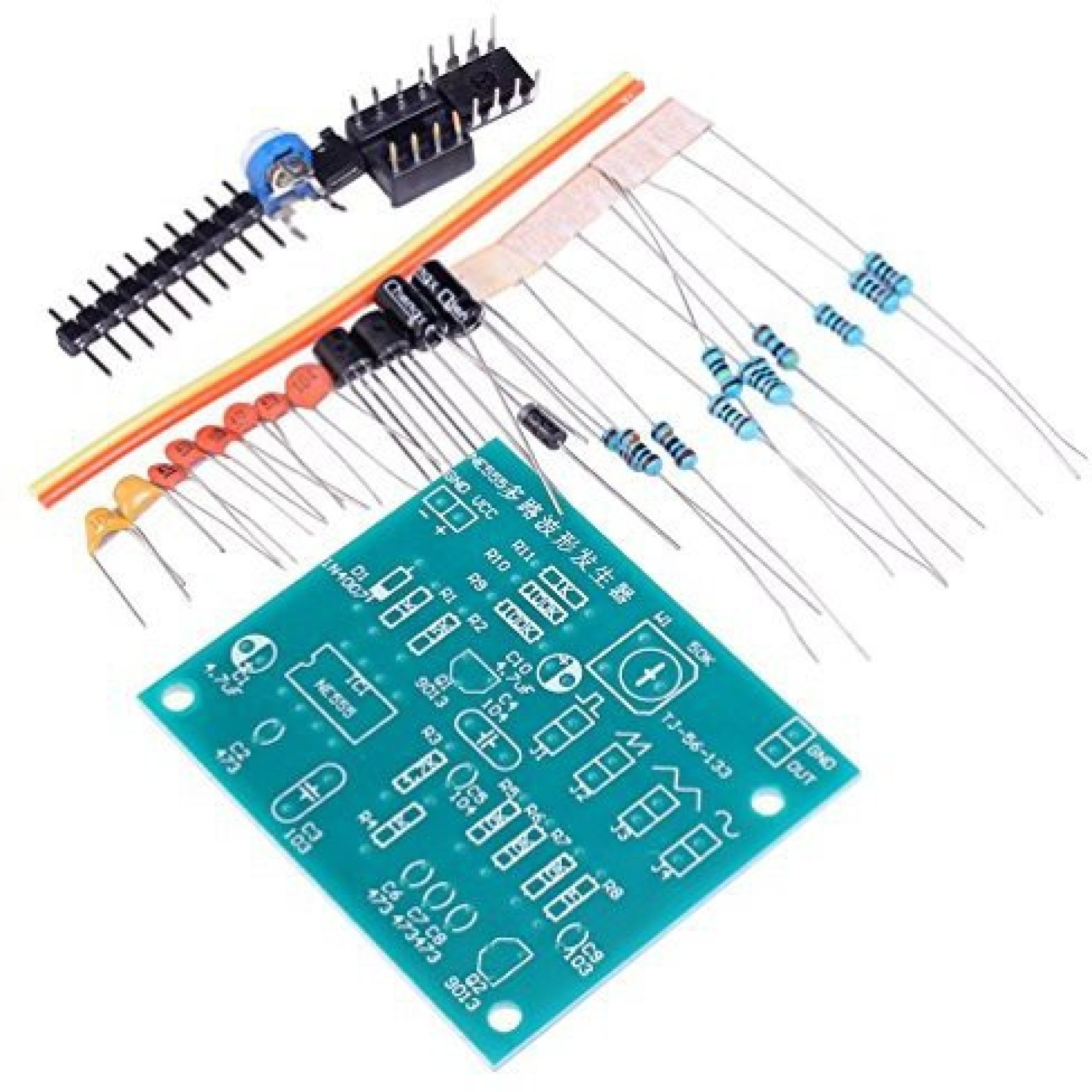 Generic Whdts Ne555 Multi Channel Wave Generator Sine Triangle Squarewave Circuit Square Sawtooth Diy Kits Soldering On Offer
