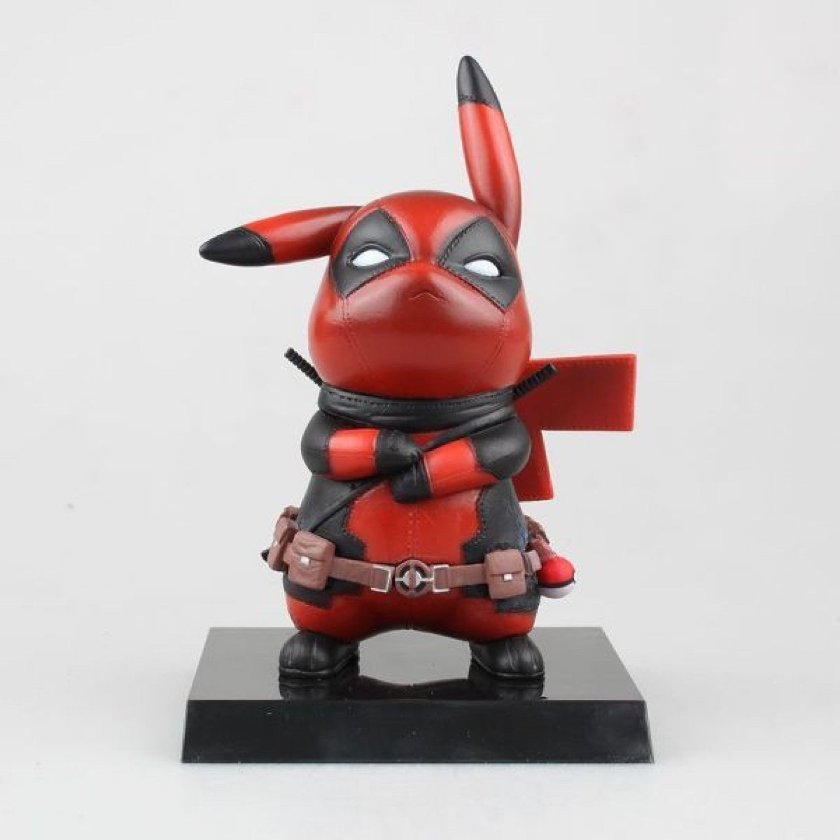 adba1d06a ZenShanti Deadpool Pikachu Mini PVC Statuette Action Figure Toy | First  Edition | 10 cm (Red)