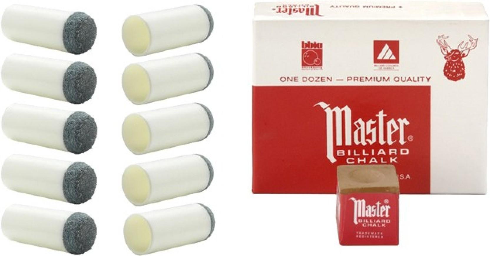 Master Chalk Billiard Pool Cue Chalk Brown 12 pieces NEW One Dozen