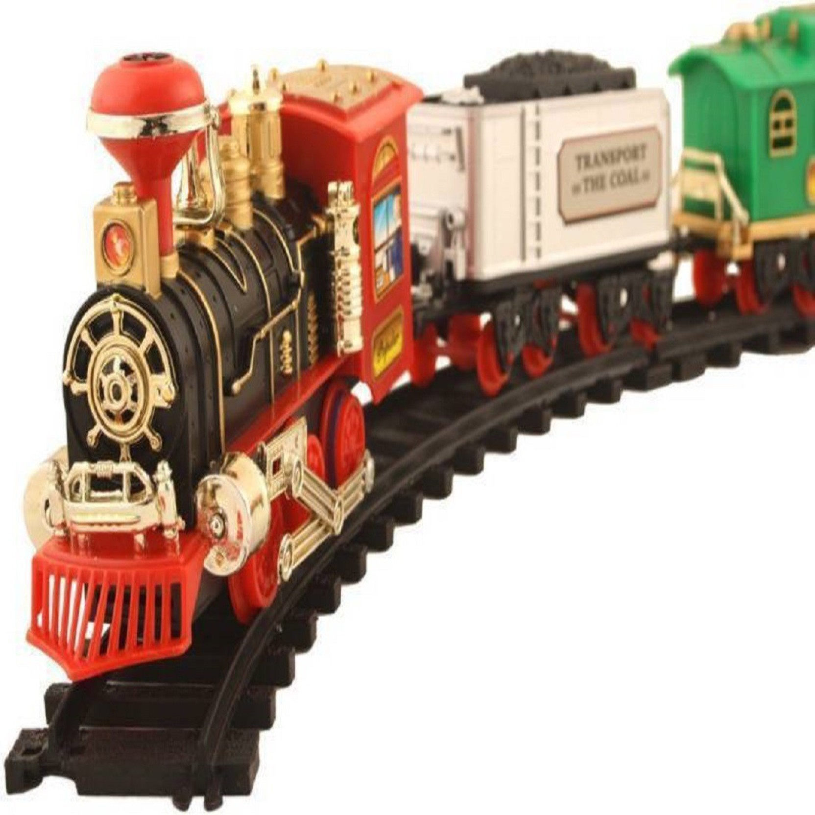 Nvcollections Kids Toy Train Real Smoke Light Sound Track Set Operated Flip Flop On Offer