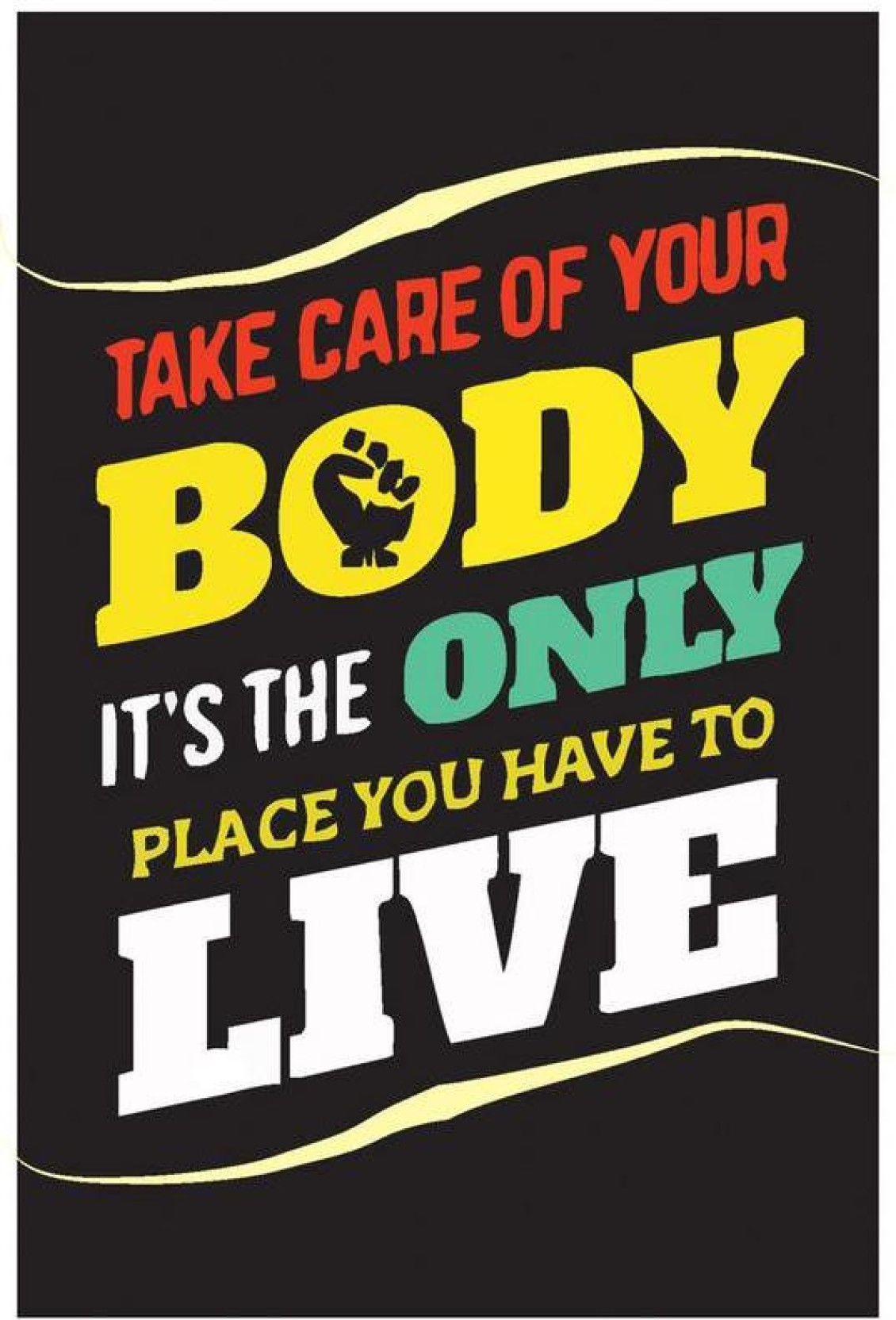 Take Care Of Your Body Fitness Poster | Gym Motivation