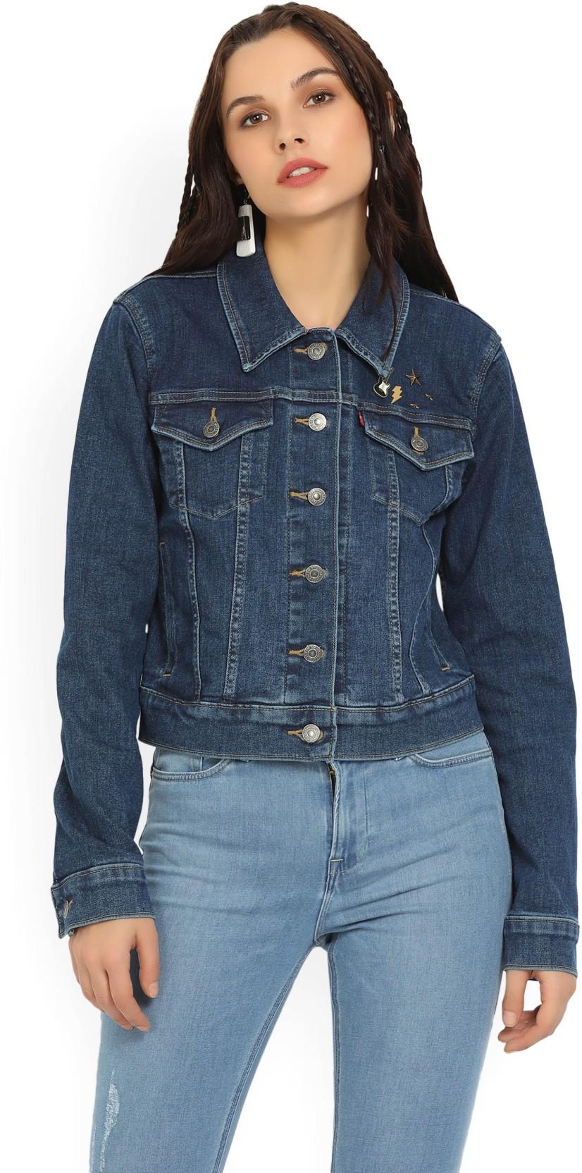 4ad1f8ae01546 Levi s Full Sleeve Solid Women s Denim Jacket - Buy Blue Levi s Full ...
