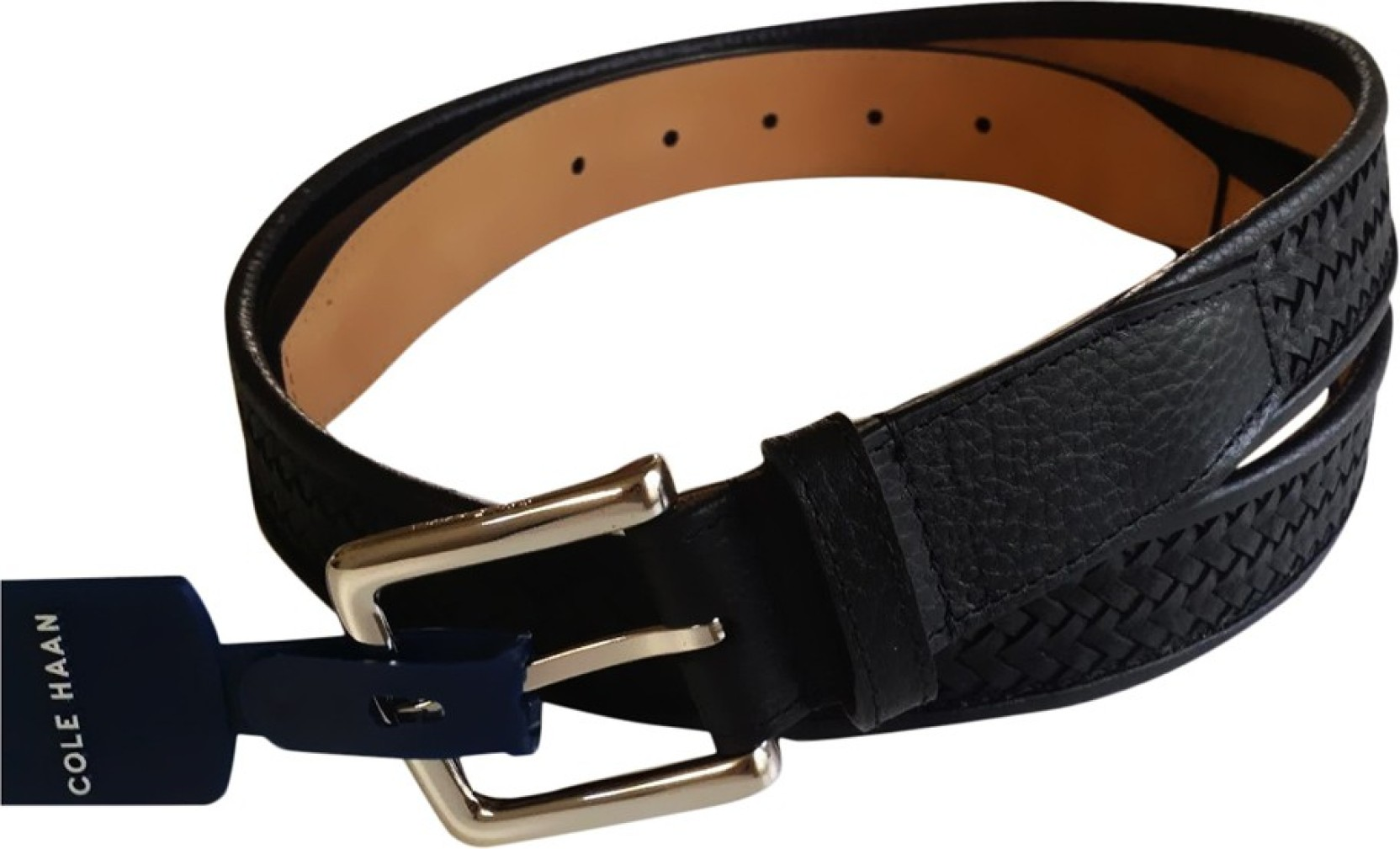 afbbe50ea8c Cole Haan Men Black Genuine Leather Belt Black - Price in India ...