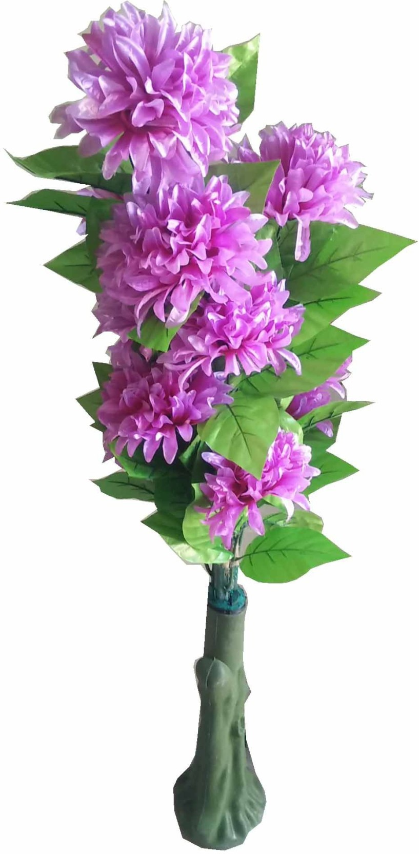 Kaykon Big Artificial Tree With 12 Big Purple Flowers For Home Decor
