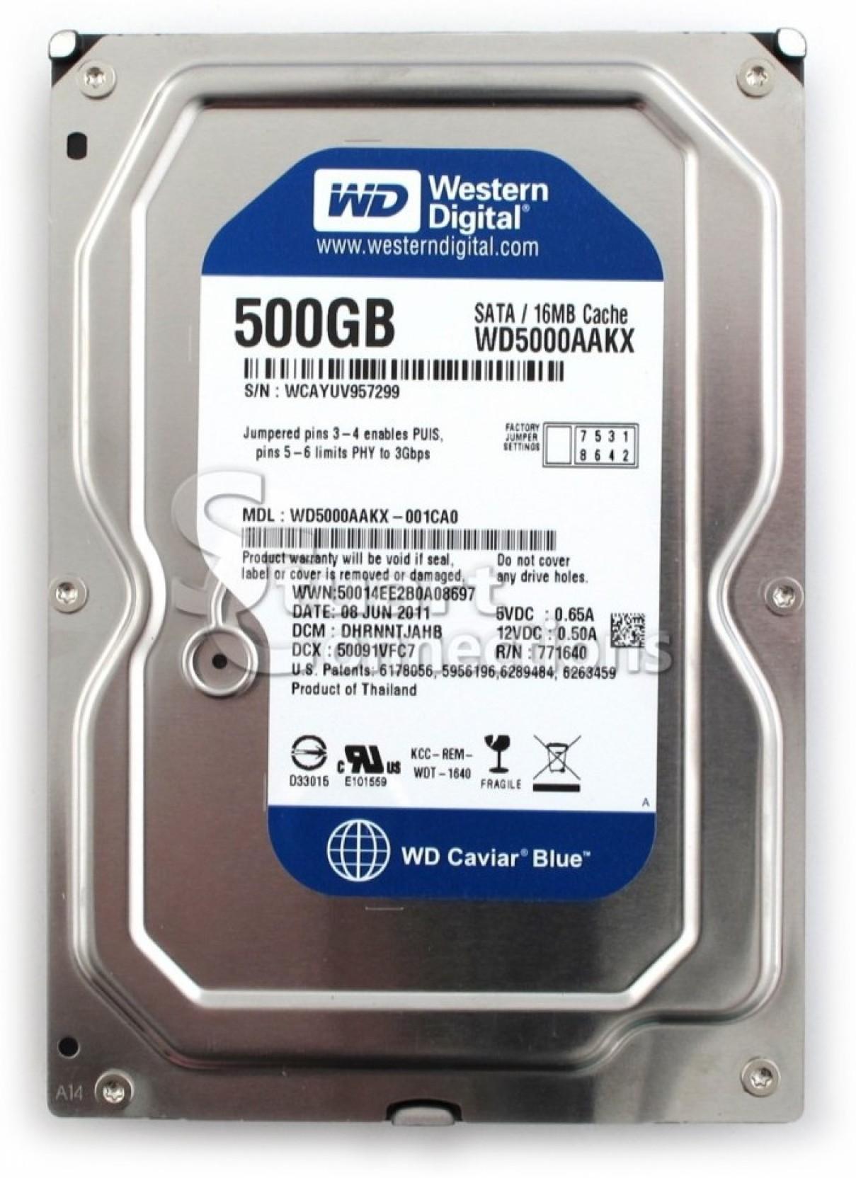 Wd 500 Gb Hard Disk Internal For Desktop Pc Blue Hardisk Hdd 320gb New Home