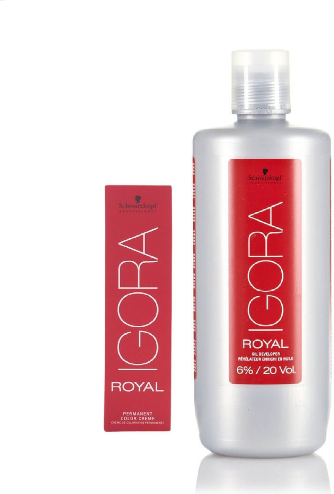 72ca15c3fa Schwarzkopf Igora Royal Permanent color crème 4-99 Medium Brown Violet Extra(1tube)  60mL+ Igora Oil Developer 1000 mL (Set of 2)