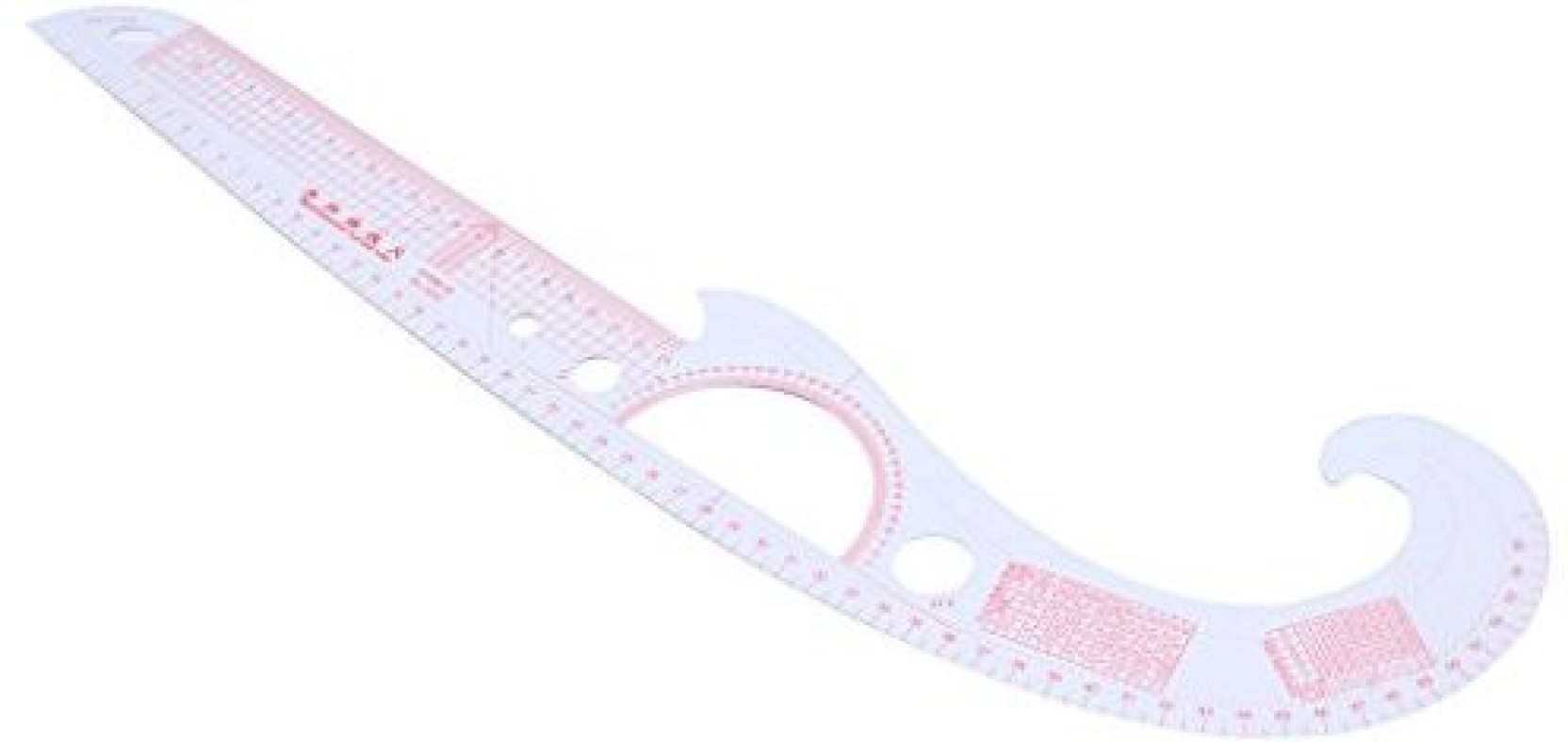 Hacloser Multi-Function Curved Metric Ruler 52Cm For Making