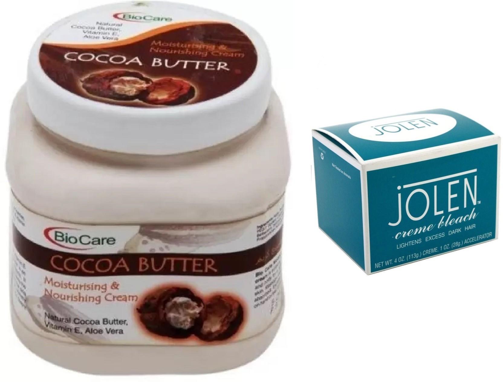 Jolen Crme Bleach And Biocare Cocoa Butter Cream 500ml Price In Cr Original Share