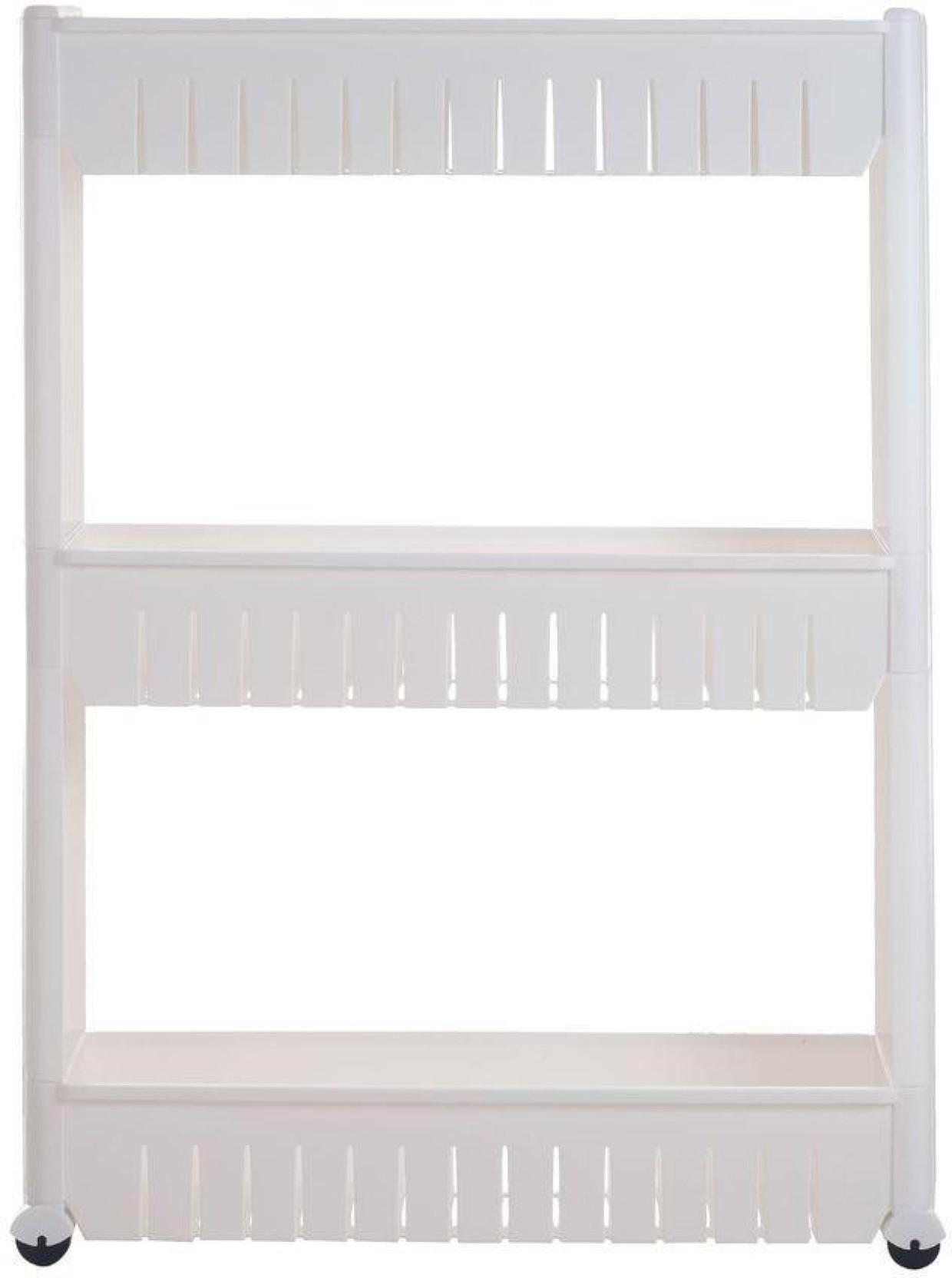 Insasta 3 Tier Slim Side Storage Rack Shelf With Wheels white box ...