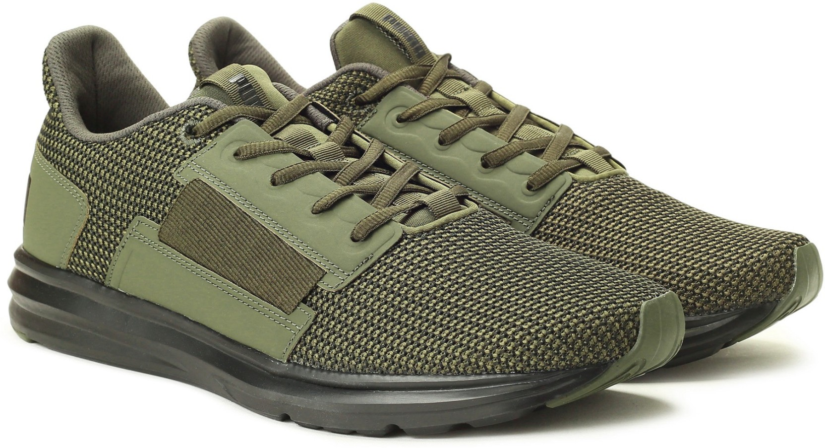 Puma Enzo Street Knit IDP Running Shoes For Men - Buy Forest Night ... 7f682bdb854