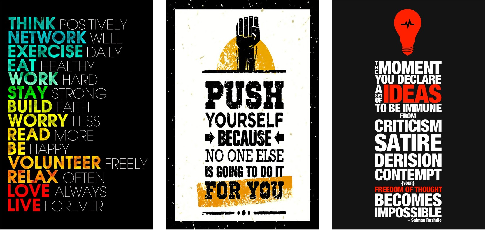 Combo Pack Laminated Motivational 12x18 Hard Posters