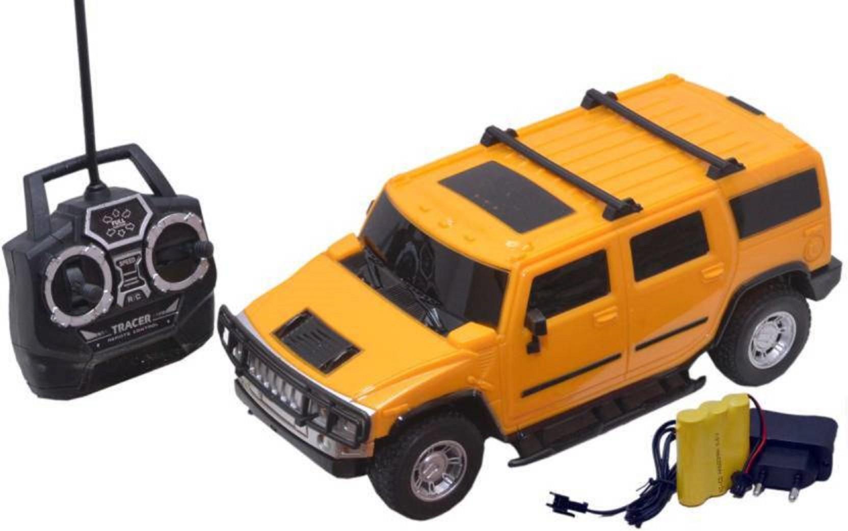 KINSMART 1:40 2008 HUMMER H2 SUV OFF ROAD // BIG FOOT Diecast Car White Color