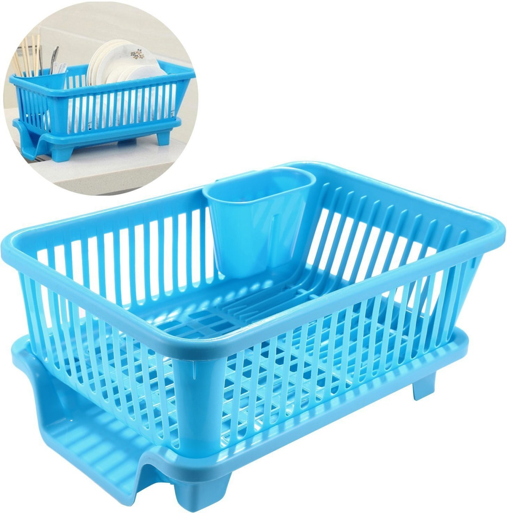 House of Quirk Sink Dish Drainer Drying Rack Washing Holder Basket ...