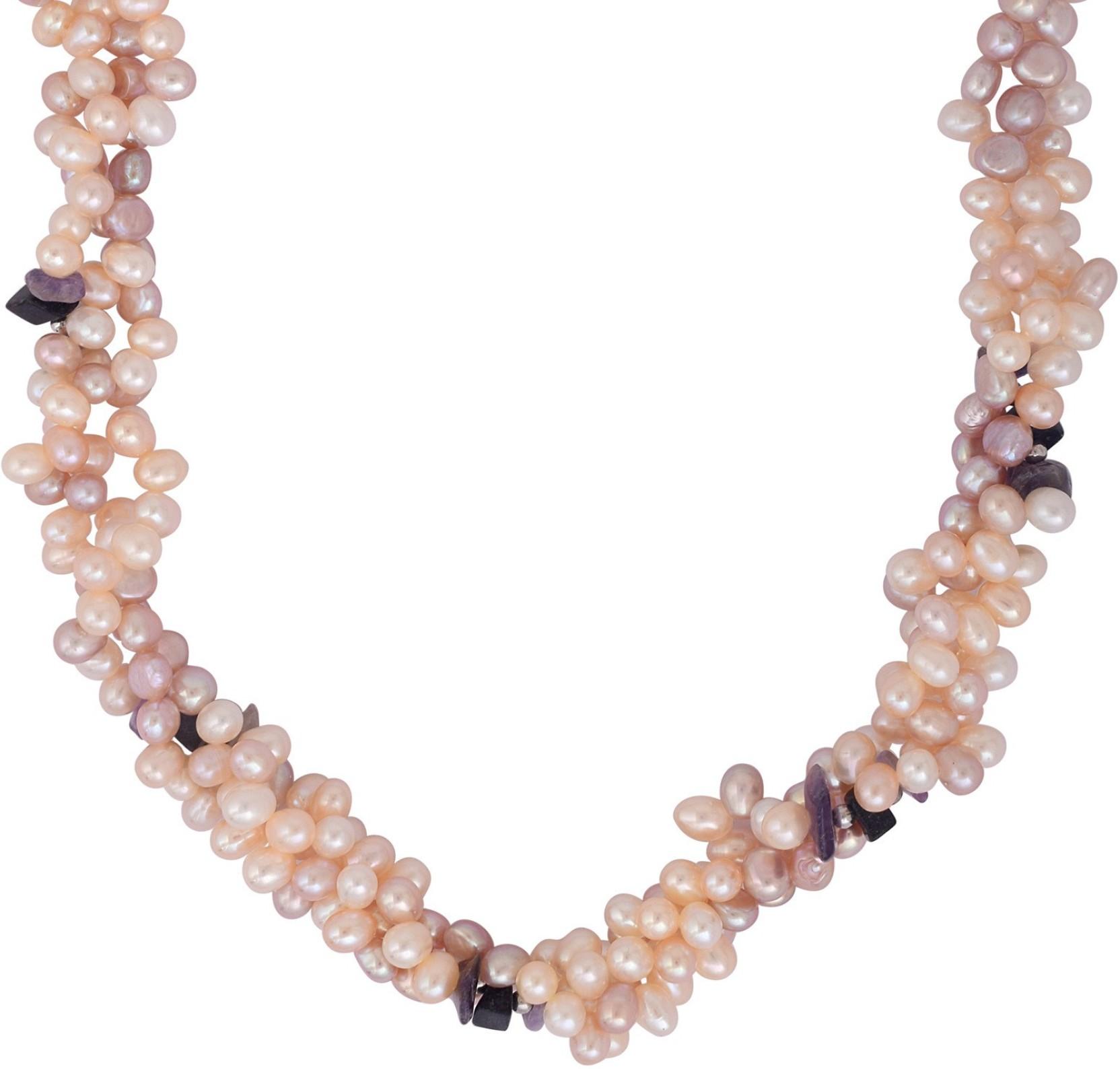 2dd0d47738344 DzineTrendz Real Freshwater Japanese Akoya Pearls, Gajra design ...