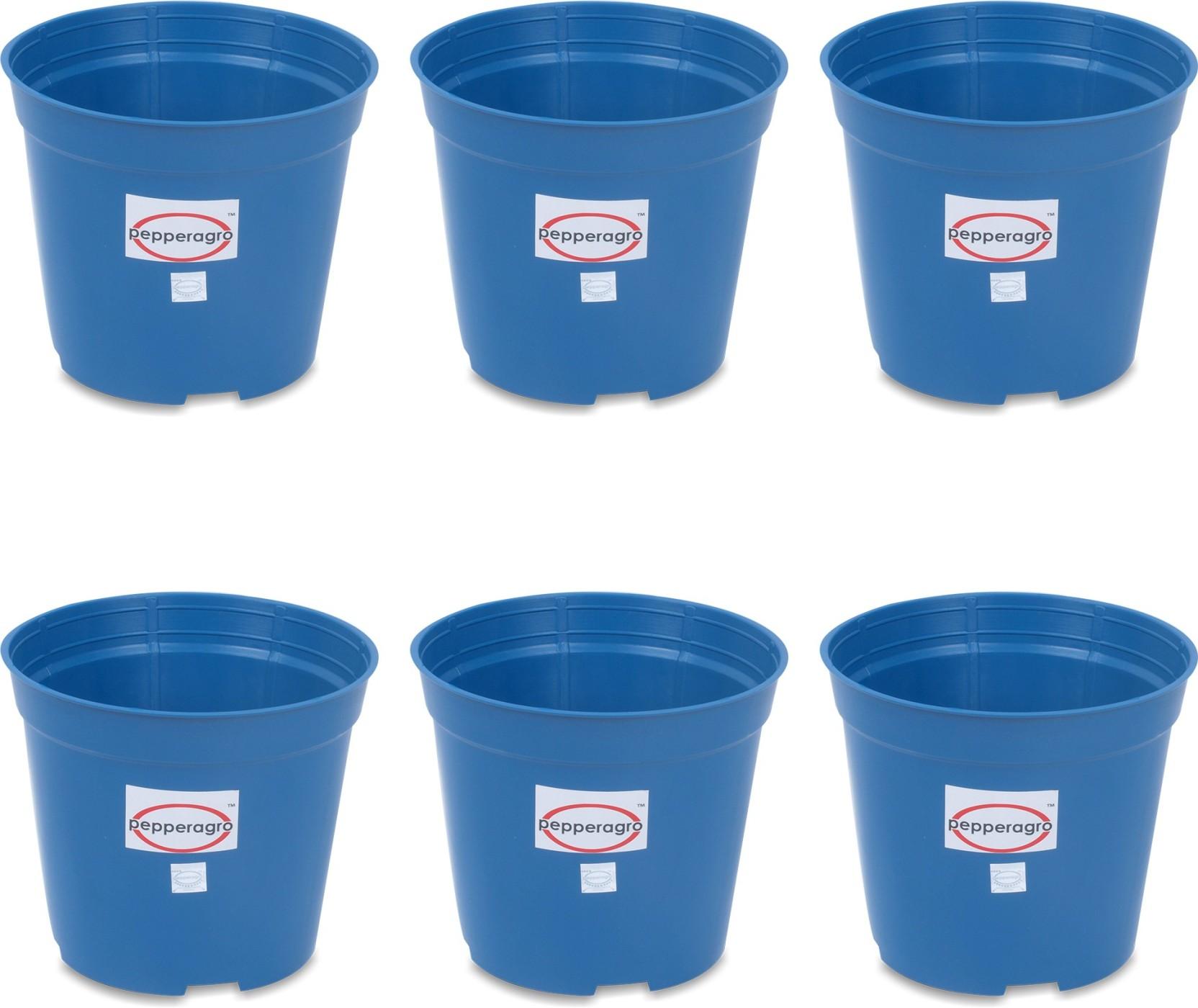 Pepper Agro Gardening Planter Blue Flower Pots 6inch Set Of 6 Plant