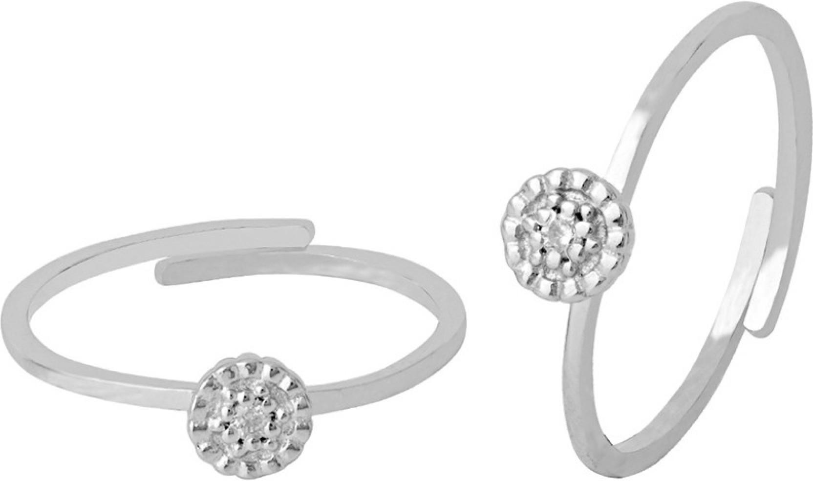 28703d93e3c21 Voylla 925 Sterling Silver Toe Rings For Women Sterling Silver Swarovski  Zirconia Rhodium Plated Toe Ring. Home
