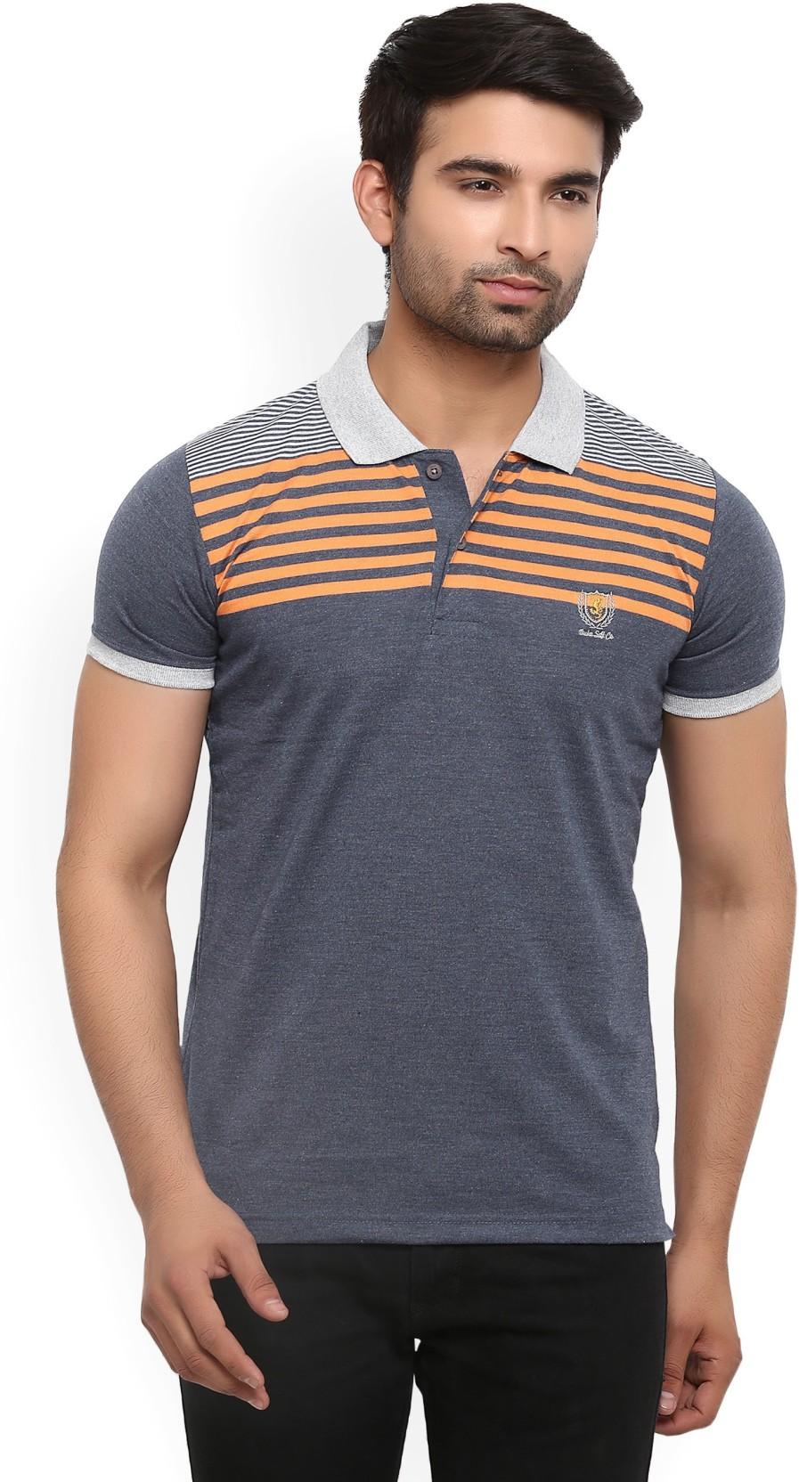 Duke Striped Mens Polo Neck T Shirt | Azərbaycan Dillər
