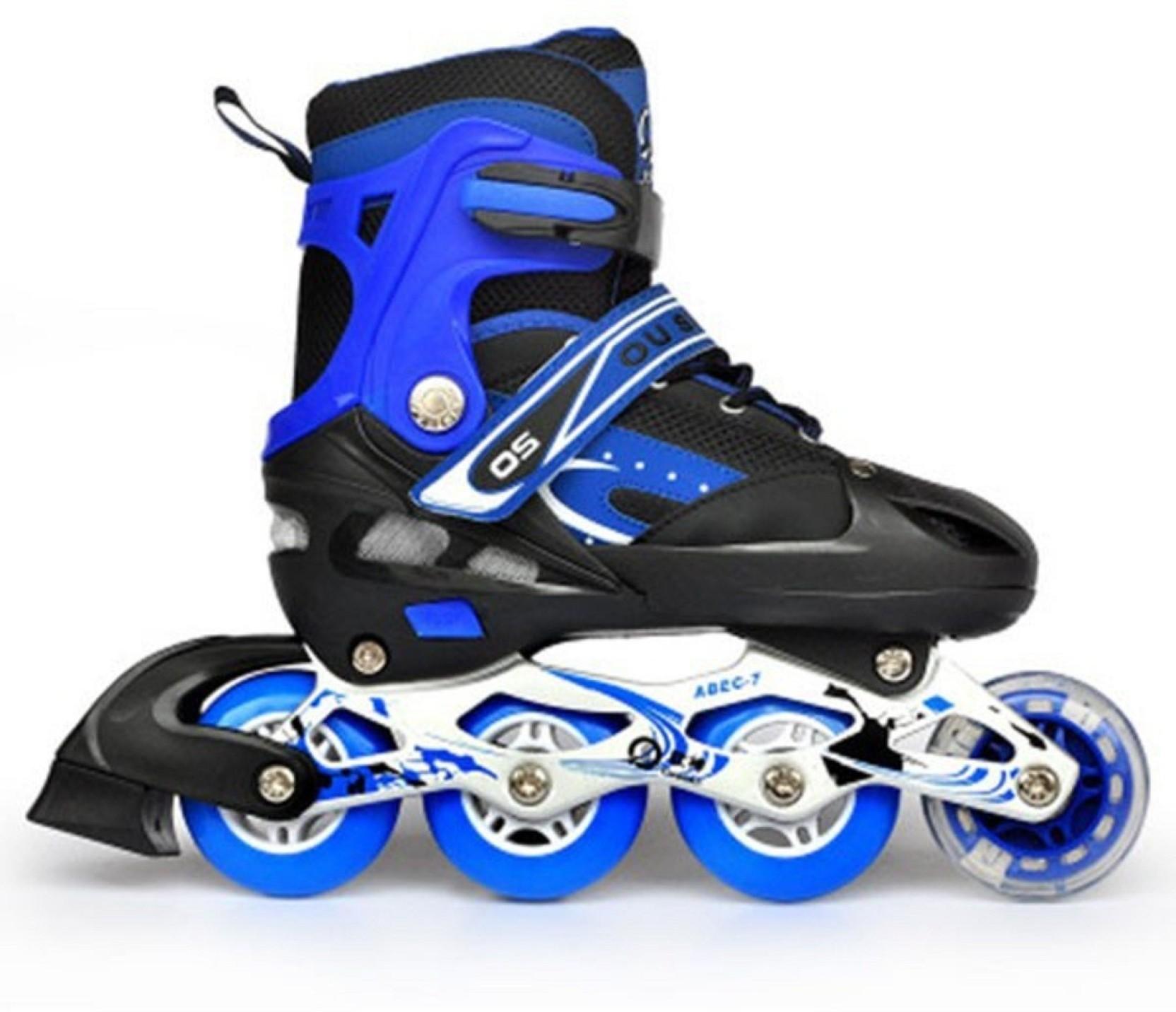 6eb515b42bf Emob Professional Inline four wheels Skating Sneaker Shoes for Kids ...