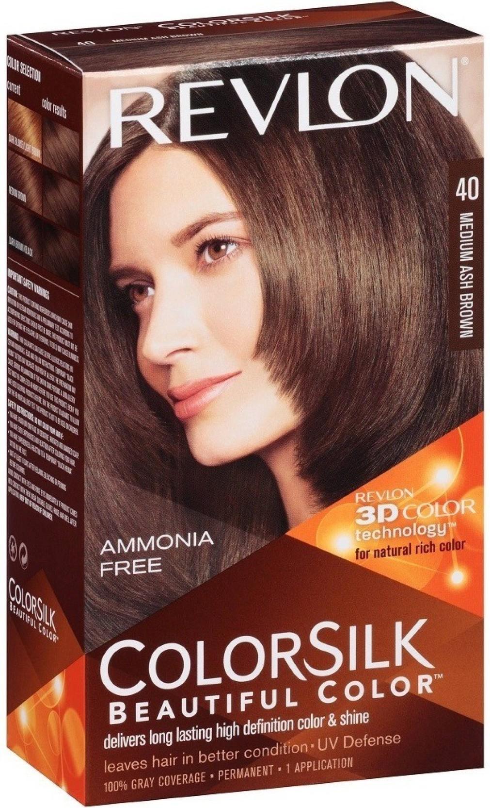 Revlon Medium Ash Brown No 40 Hair Color Price In India Buy