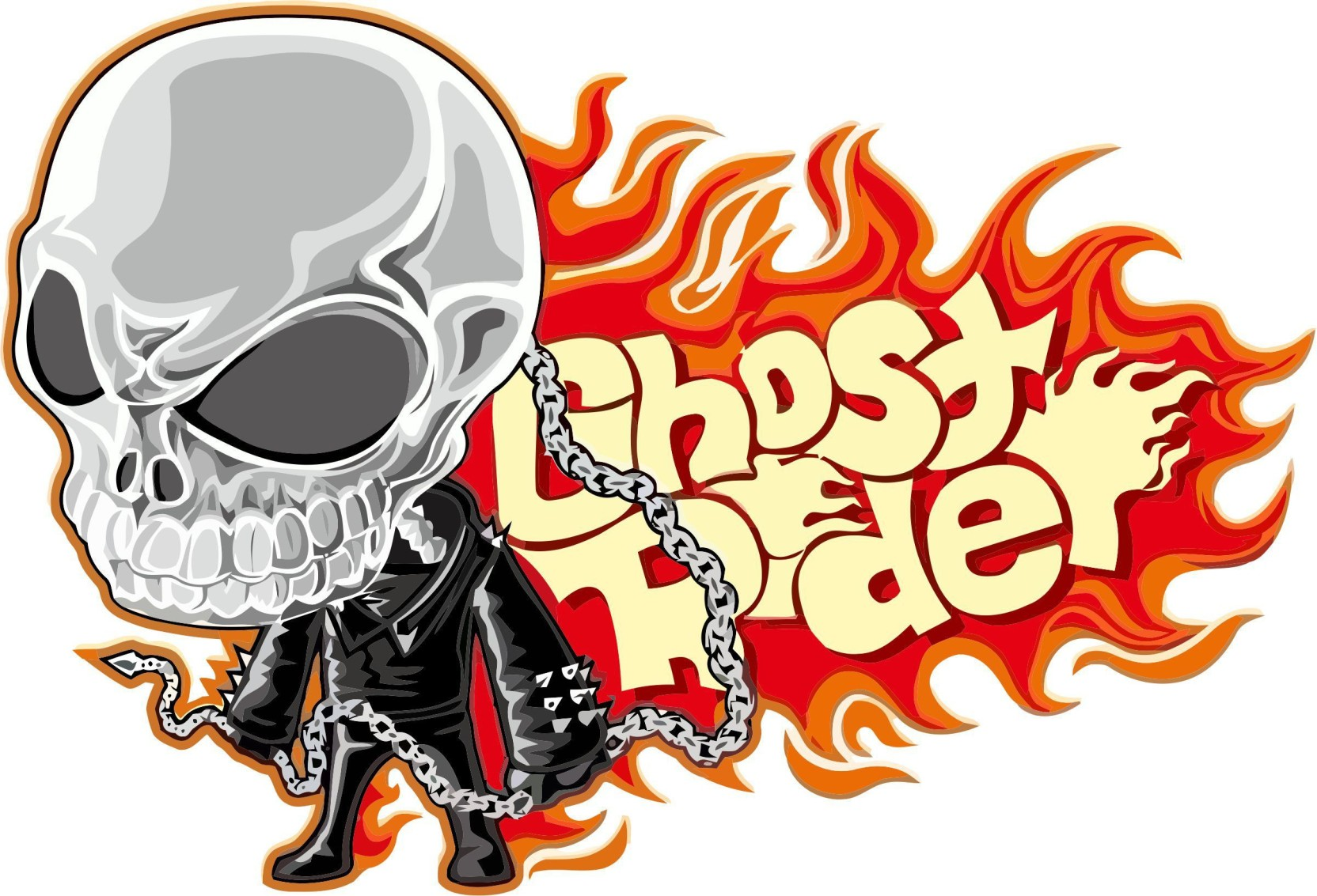 Total home tiny ghost rider iron on transfer stickers applique hot heat vinyl thermal transfers for t shirt clothes fabric decorationpack of 1 sticker