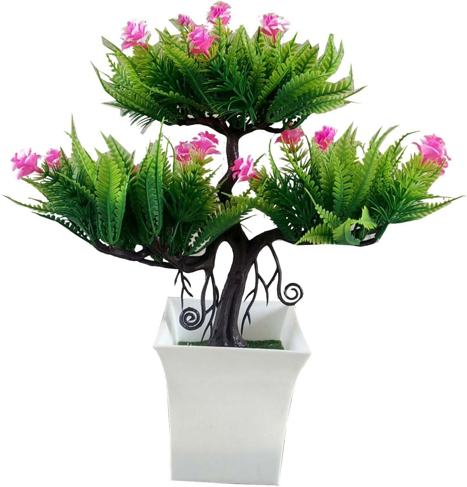 Kaykon Decorative Artificial Pink Flower Bonsai Plant For Indoor