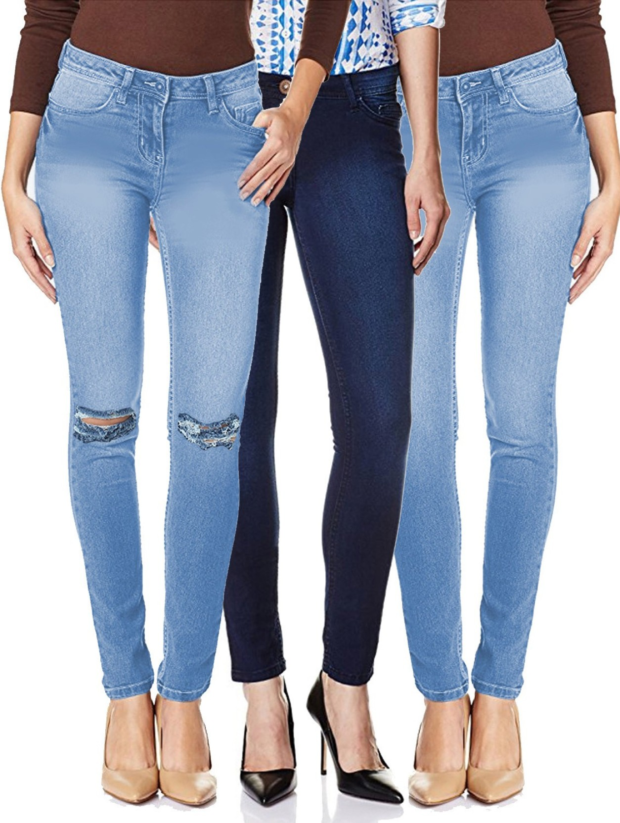 Fuego Regular Women Light Blue, Blue Jeans - Buy Fuego Regular Women