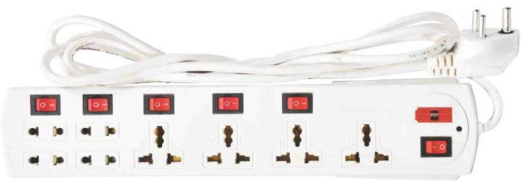 Remarkable X Eon Rectangle Shape 6 Amp 8 Plug Point With Fuse 8 Socket Surge Wiring 101 Akebretraxxcnl