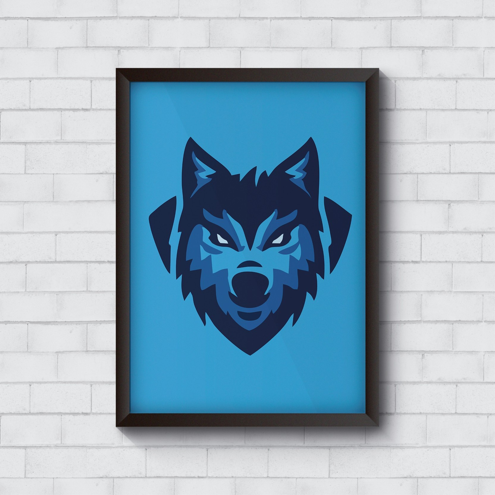 Cool trendy quirky posters to make your wall look prettier wolf logo design fine art print 18 inch x 12 inch rolled