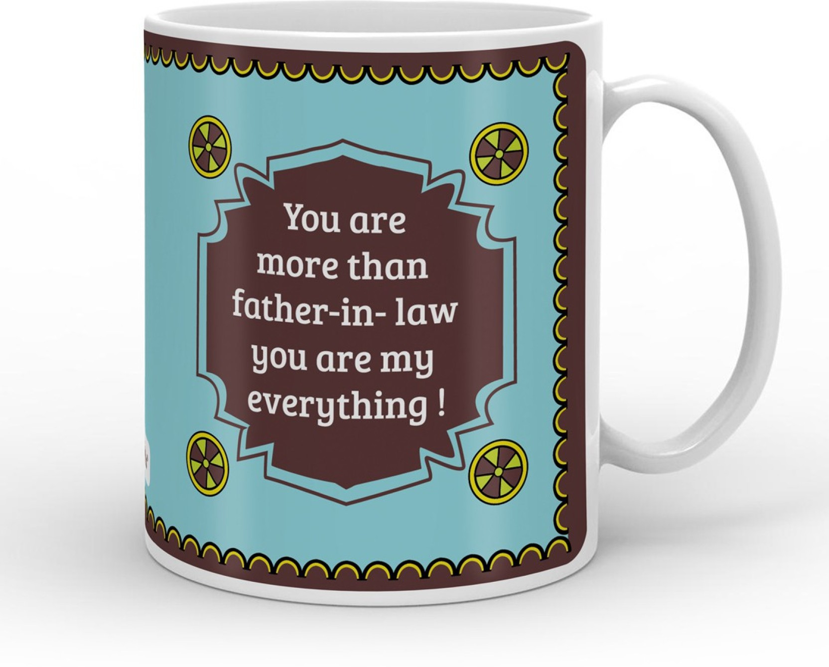 Indigifts Decorative Gift Items For Father In Law Fathers Birthday Dad Papa Day S MUGCRWH01RO11 ILF17011 Ceramic Mug