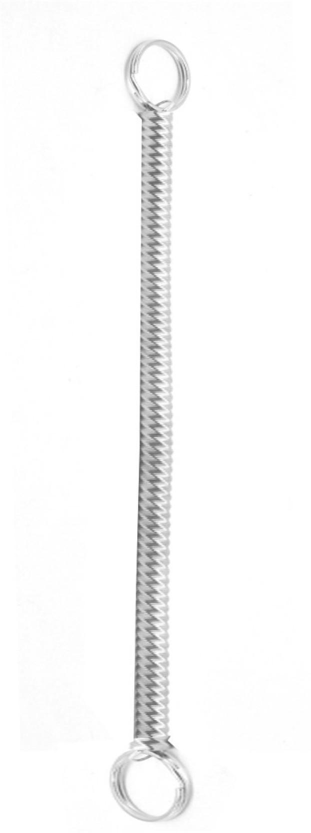 Faynci Spiral Silver Metal Long Key Chain Stretchable String Metal ... d2c675ec6cfa