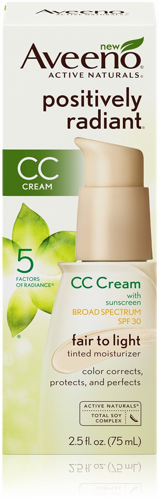 d8a83bf483e Aveeno Positively Radiant CC Cream Broad Spectrum Spf 30, Fair To ...