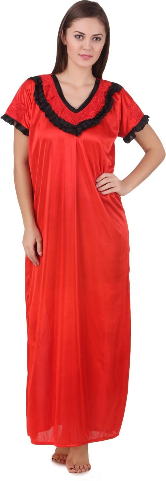 Ansh Fashion Wear Women s Nighty - Buy Red Ansh Fashion Wear Women s ... e6386bee3