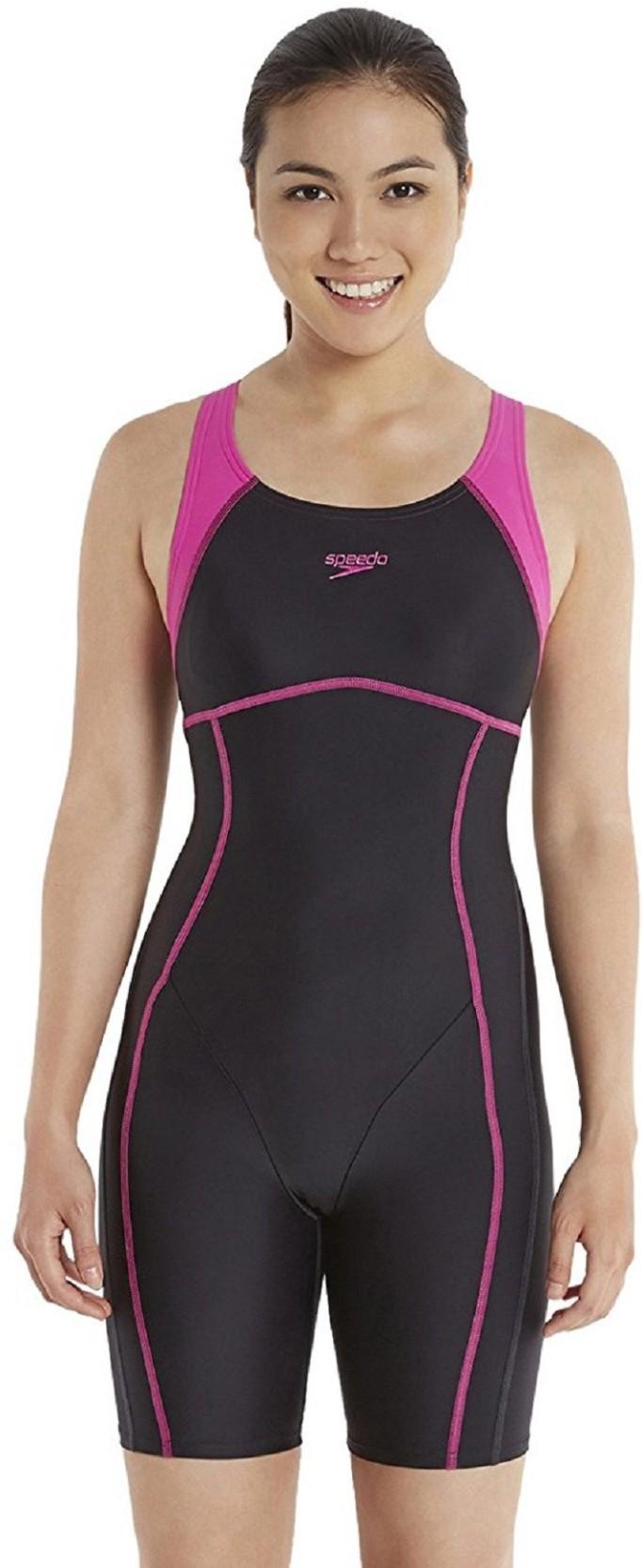9649d55ee22 Speedo SPEEDO AF ESSENTIAL SPLICED LEGSUIT - BLACK/ECSTATIC Printed Women  Swimsuit. Home