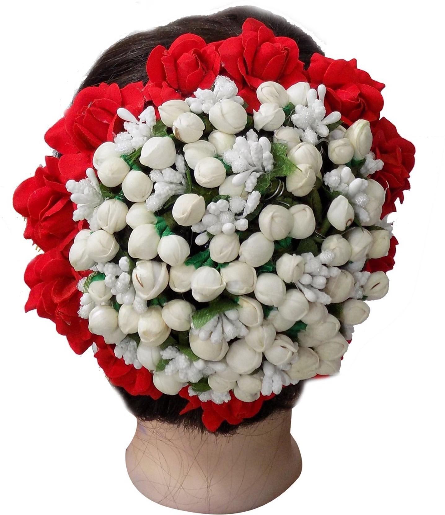 fully south indian flowers bridal hair gajra hair