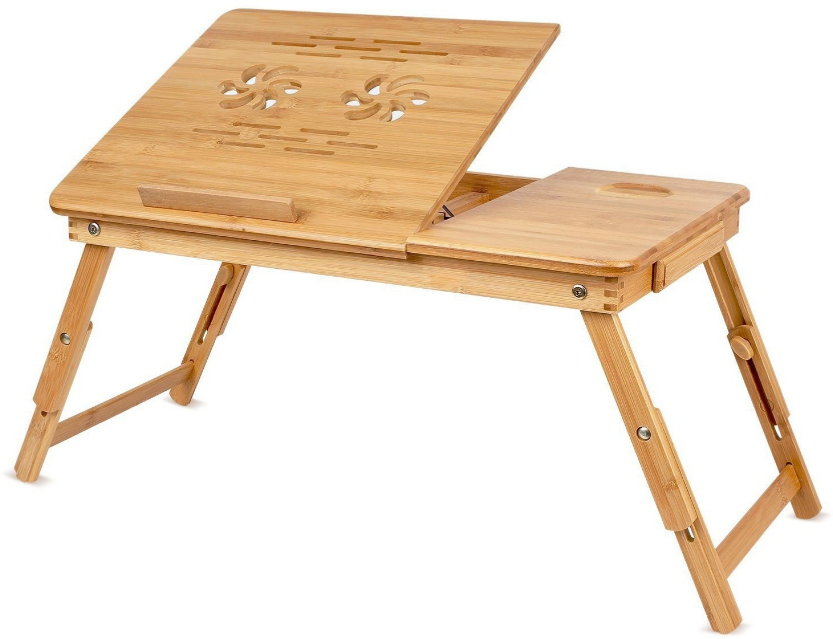 Snazzy large size premium quality multi purpose foldable portable wooden bed table study table laptop table kids activity table wood portable laptop table