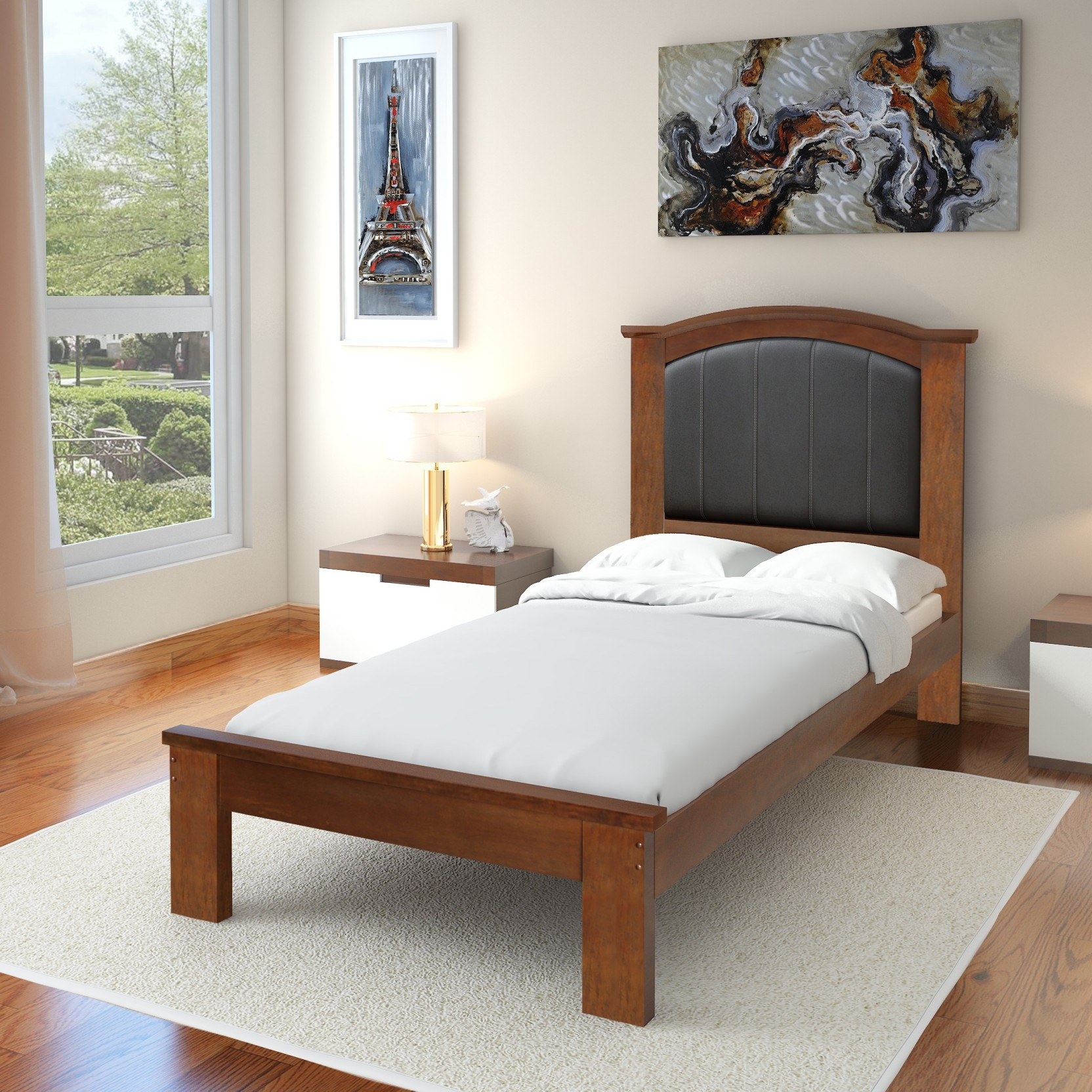 info for ac87c 3ff03 @home by Nilkamal Morgan Solid Wood Single Bed