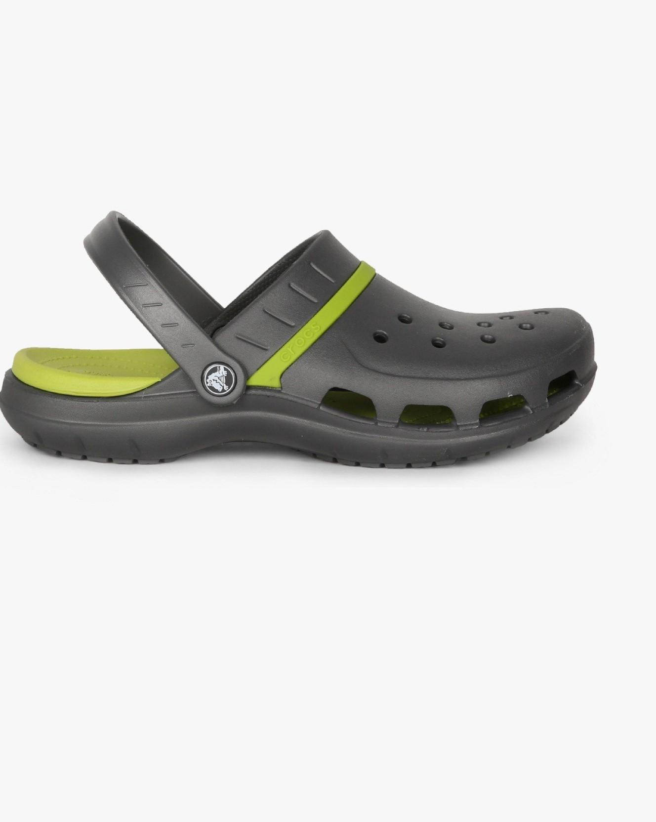 51e6c6dbb Crocs Men Graphite Volt Green Sandals - Buy Crocs Men Graphite Volt ...