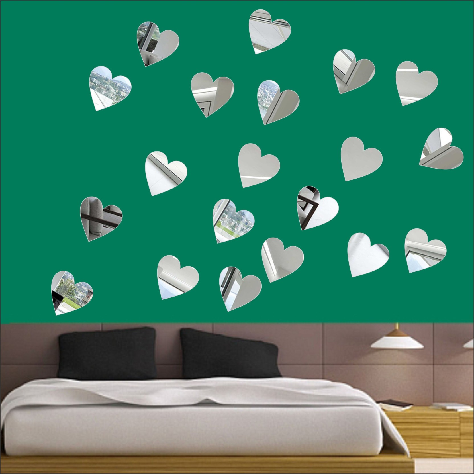 5c849dc19a LOOK DECOR Extra Large LOOK DECOR Hearts (pack of 20) 7Acrylic Sticker, 3D  Acrylic Sticker, 3D Mirror, 3D Acrylic Wall Sticker, 3D Acrylic Stickers  for Wall ...