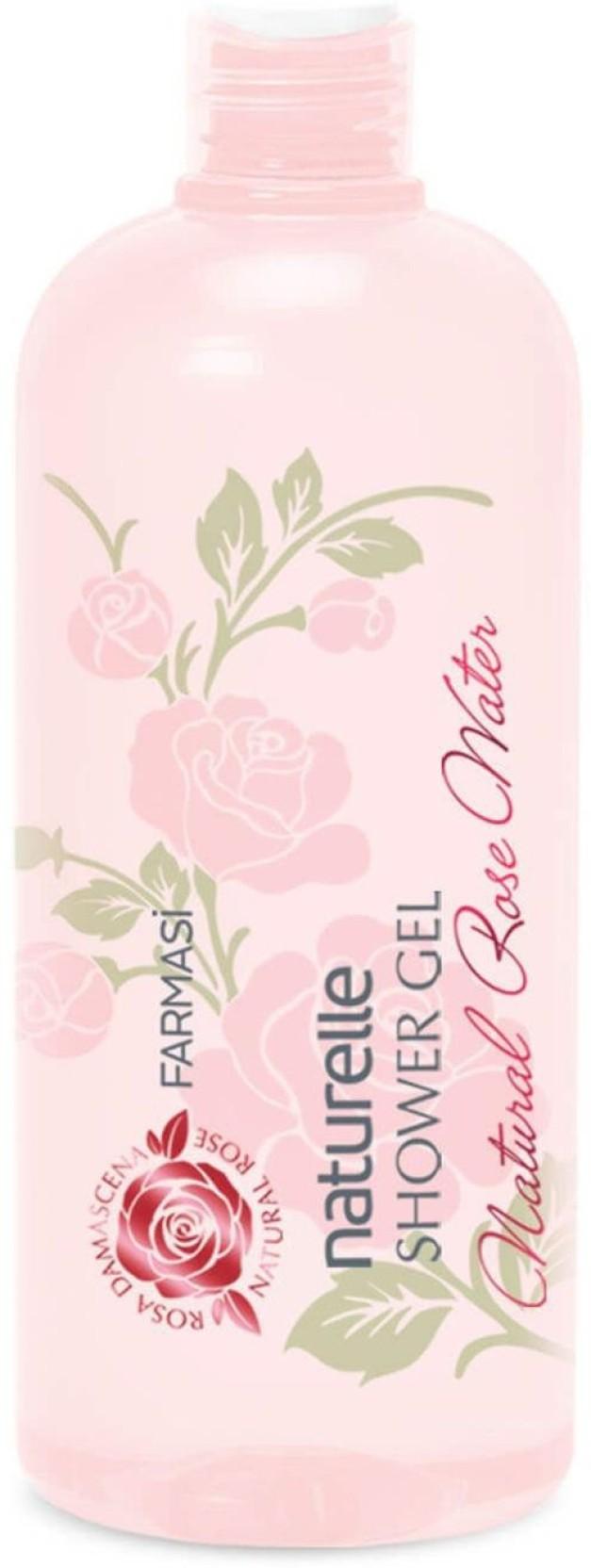 Farmasi Naturelle Shower Gel Natural Rose Water 375ml 1275oz