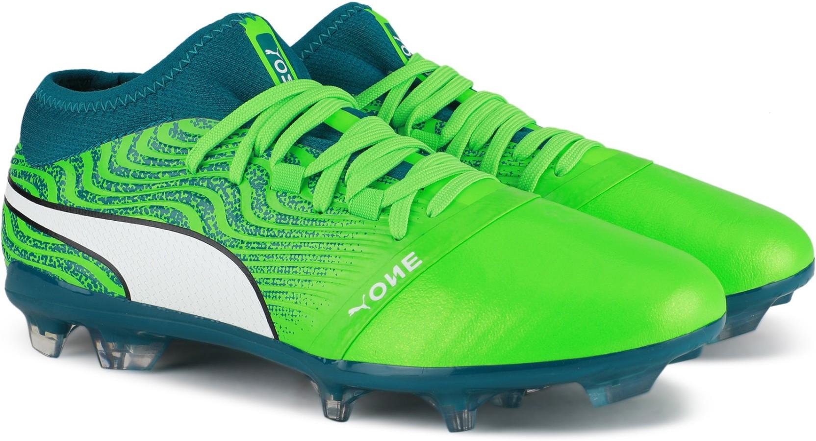 36b0afdcfcf Puma ONE 18.2 FG Football Shoes For Men - Buy Green Gecko-Puma White ...