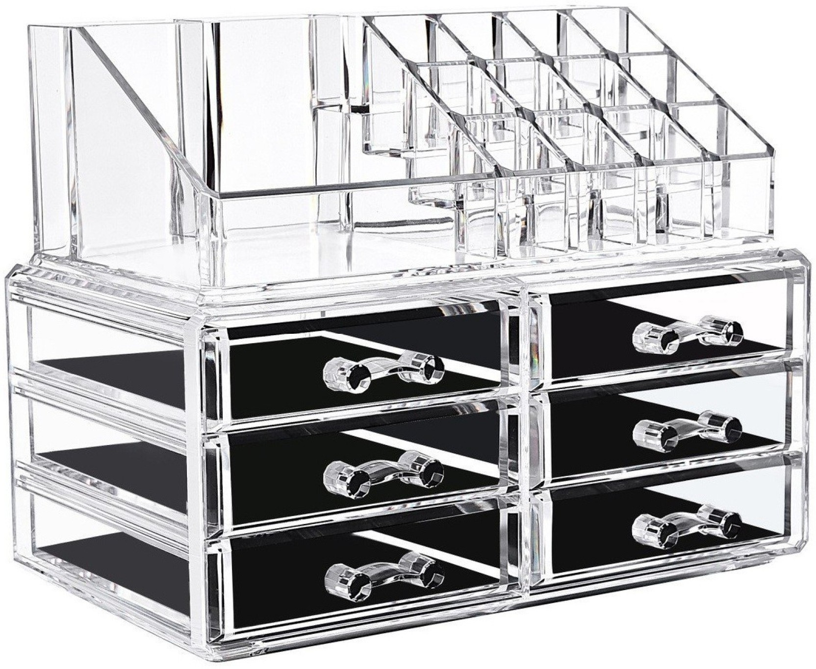 IBS Acrylic Makeup Organizer Storage Box Case Cosmetic Jewelry 6 Drawer  Makeup Container Boxes Lipstick Display Holder Stand Brushes Vanity Box  makeup