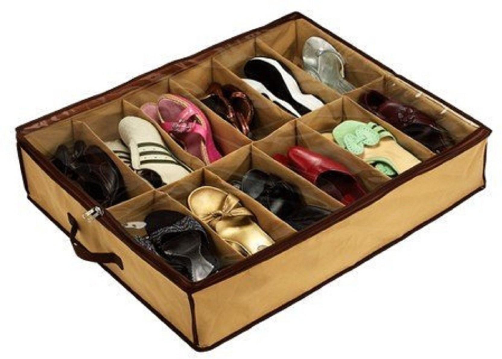 Maison Cuisine 12 Pair Under Bed Shoe Organizer Shoes Organizer