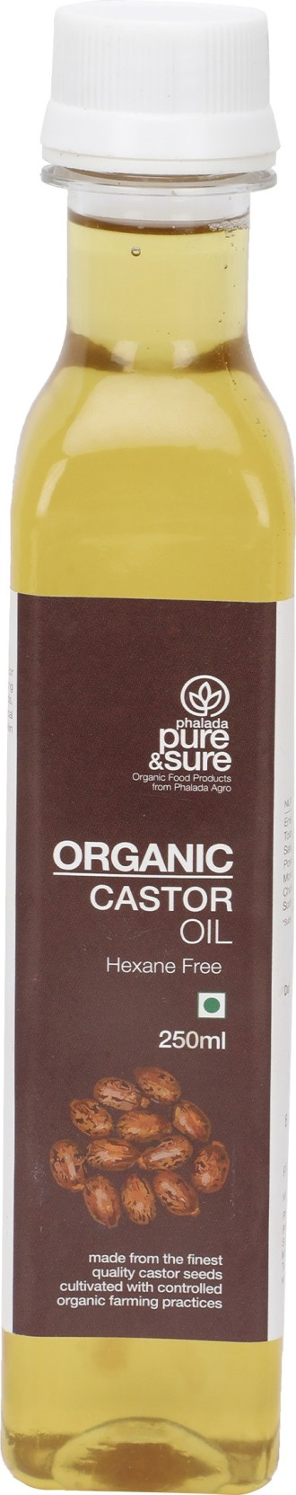 Pure & Sure Organic Castor Oil 250 ml Plastic Bottle Price in India