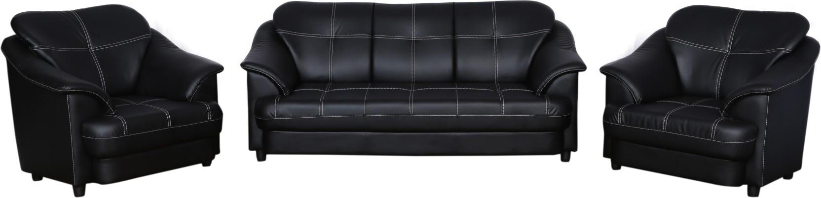 Master Kraft Titanic Leatherette 3 1 1 Black Sofa Set Price In