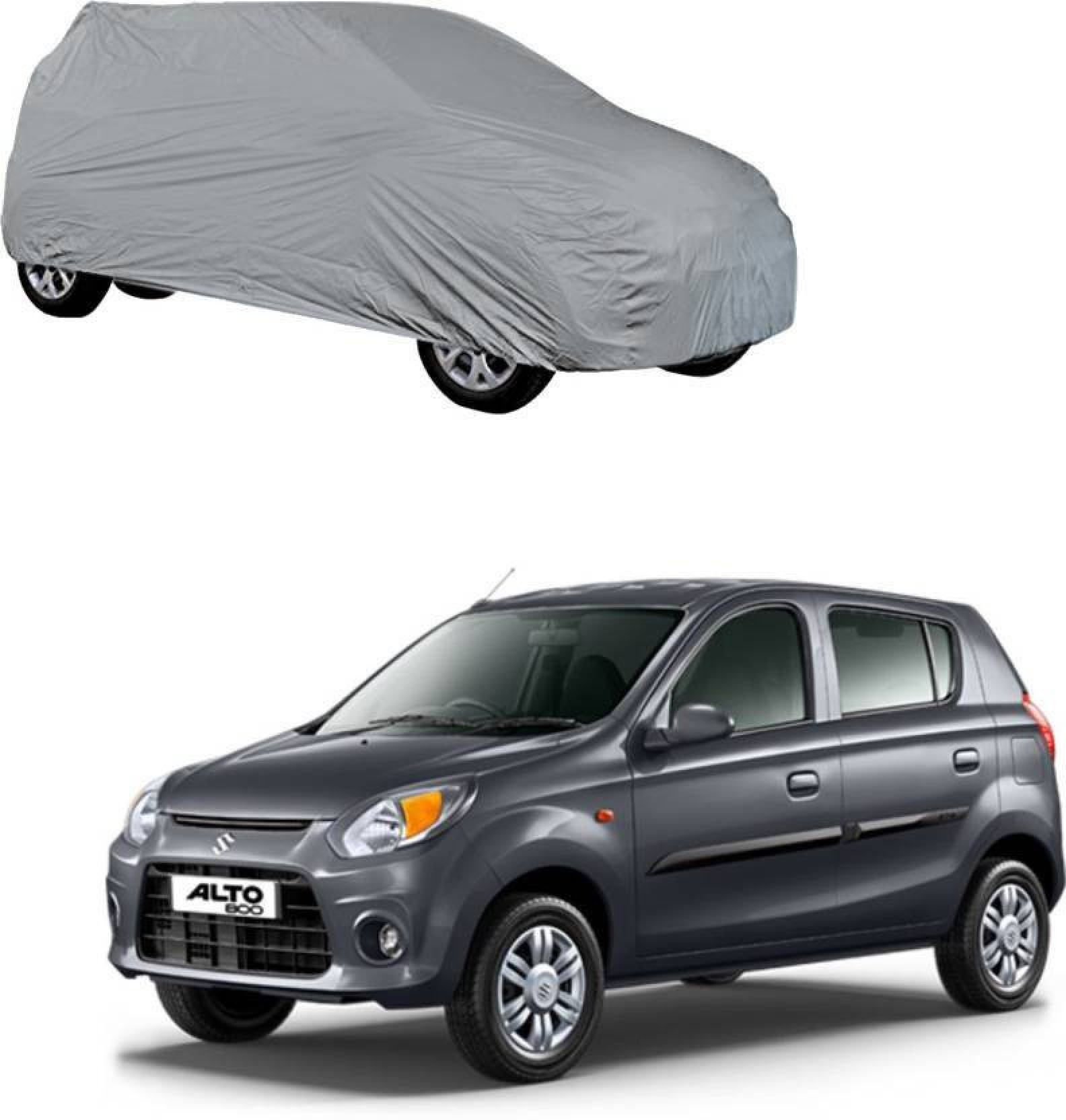 Markslow car cover for maruti suzuki alto alto 800 zen estilo without mirror pockets silver for 2018 2017 models