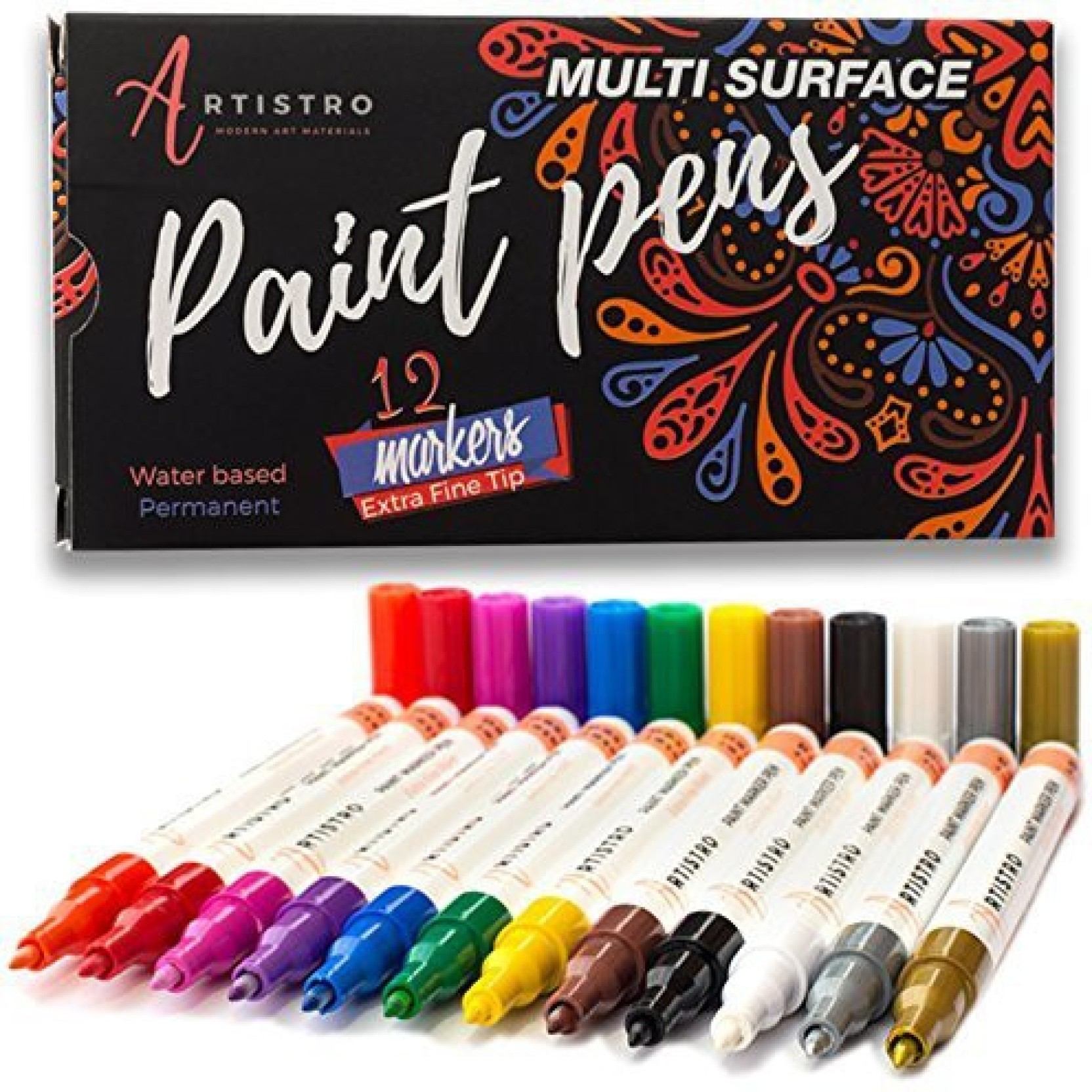 Artistro Paint Pens For Rock Painting Stone Ceramic Glass