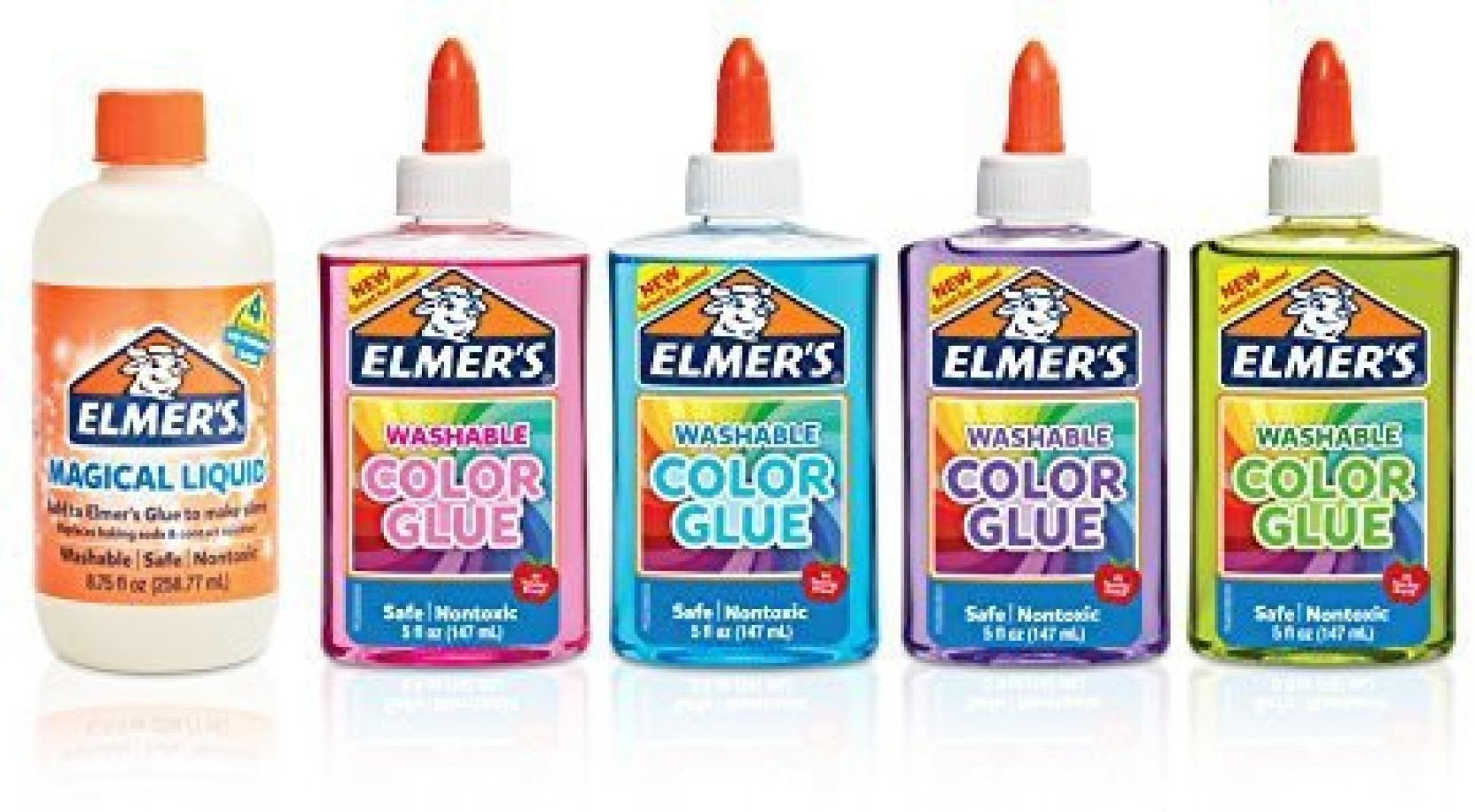 timeless design 9fe84 4b2bd Generic Elmers Magical Liquid - Slime Activator and Elmers Translucent  Color Glue, Washable, Pink, Blue, Purple, Green, 5 Ounces Each - Great For  Making ...