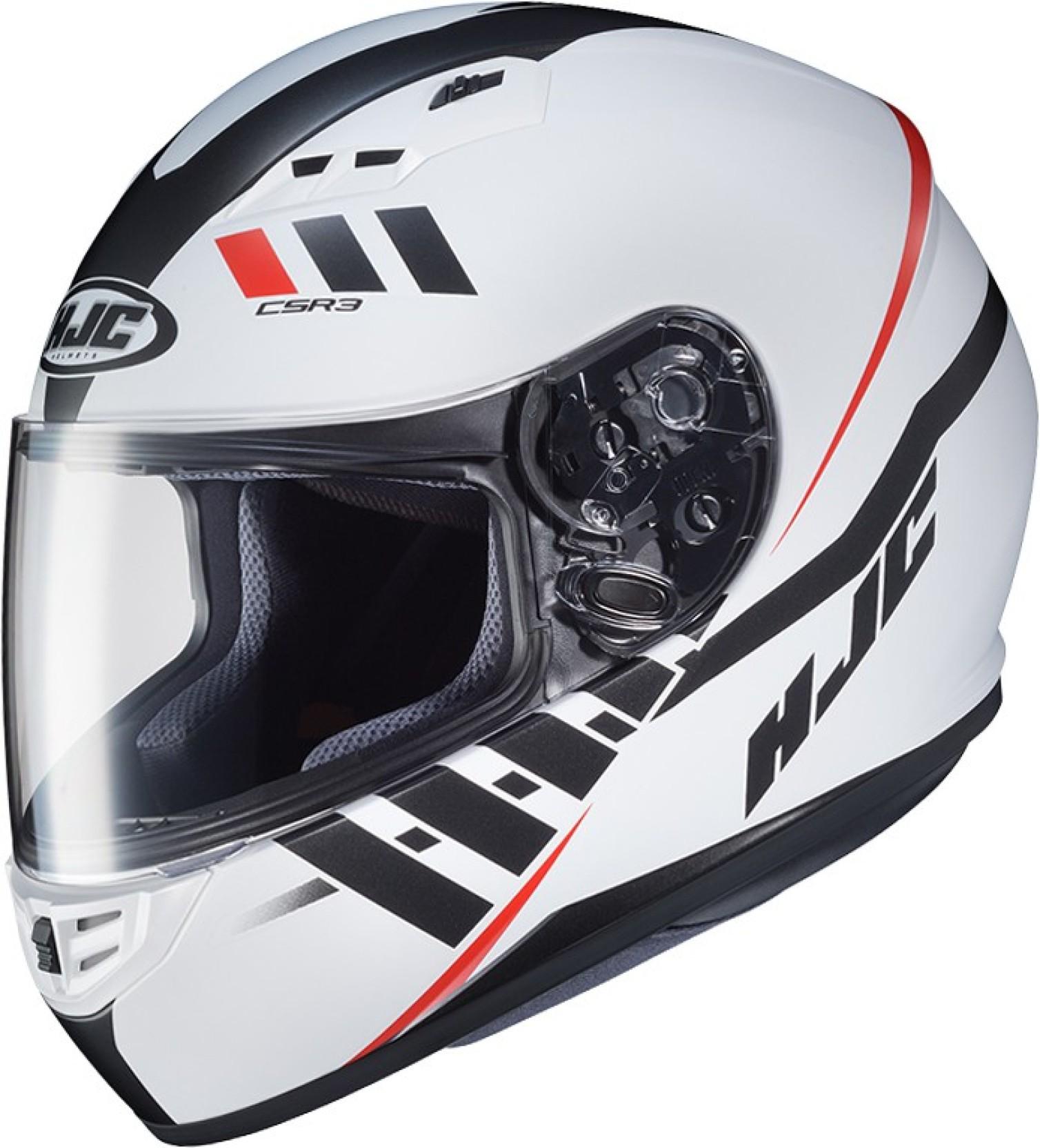 lowest price d5759 4db82 HJC SPACE MC10SF Motorbike Helmet (White, Red)