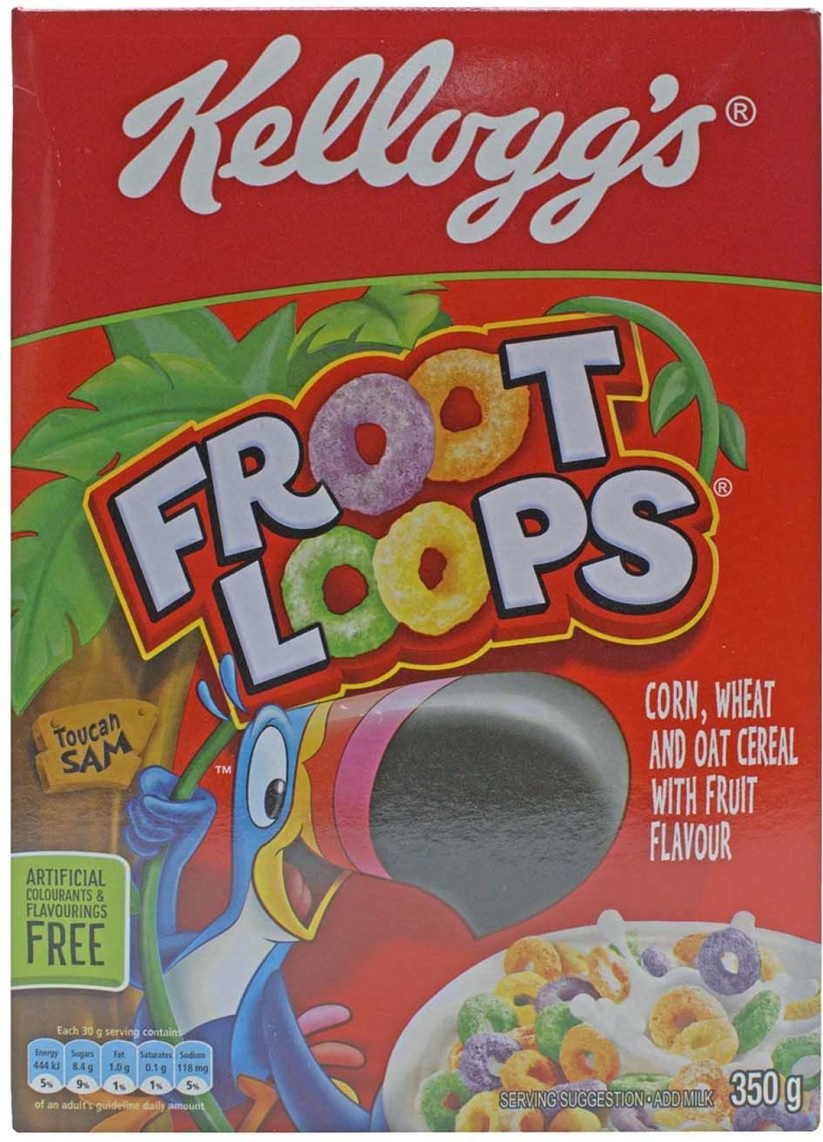350 Kelloggs Froot Loops Postmetro 300g Free Pencil Case Kl30002 8852756304046pc Home
