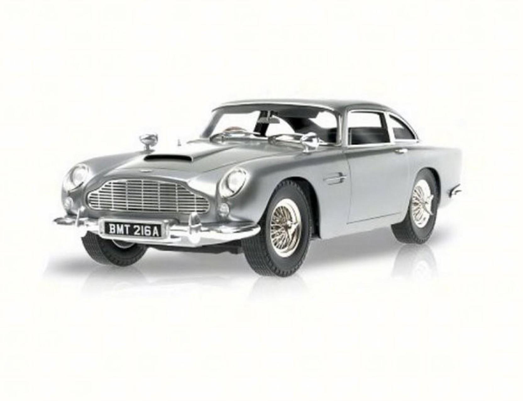 mattel/hot wheels james bond's goldfinger aston martin db5, silver